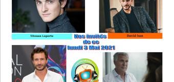 Voici nos podcasts de Chut on écoute la télé de ce lundi 3 Mai avec David Ban, Titouan Laporte, Alexandre Varga et Frédéric Van Den Driessche