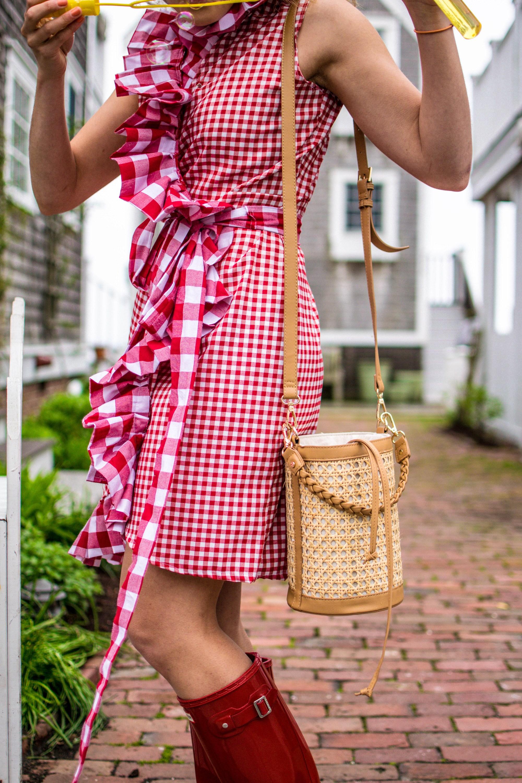 Sewing tutorial: Ruffle wrap dress