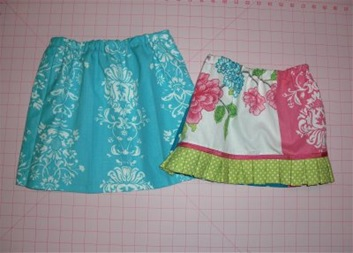 Repurpose Dishtowels into a Skirt