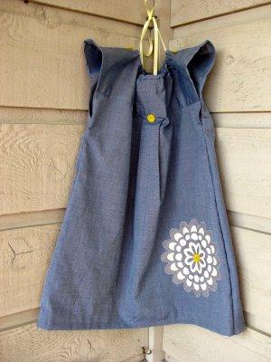 Man's Shirt to Toddler Dress