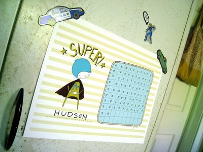 Superboy/girl Printable Reward Chart