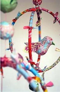 Paper Mache Bird Mobile: Tutorial