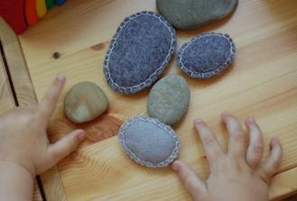 Felt Beanbag Rocks