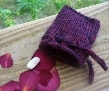 knitted pouch pattern