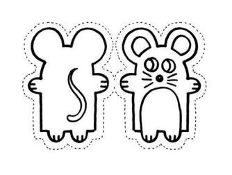 Colorea y recorta el Ratón pérez