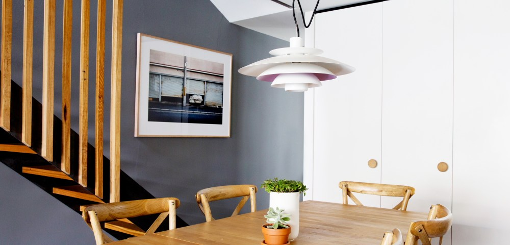 industrial photography print in home