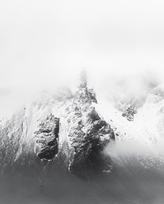 A photographic prints of icelandic mountains covered snow