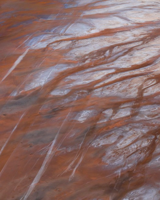 Abstract art print aerial photo of inland Australian landscape in brown orange and grey colours