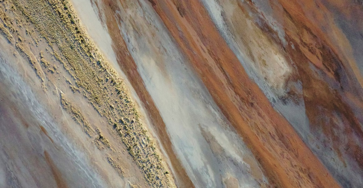 An aerial photo of Lake Ayre in South Australia