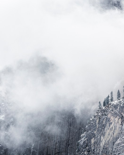 Mountain in cloud Art Print