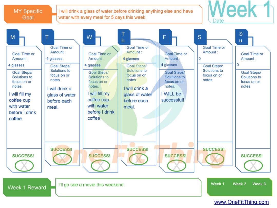 SMART Goal Tool - Week 1 Example