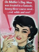 Mother's Day wine card