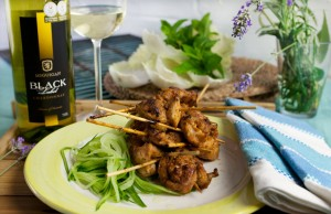 John Torode's green curry barbecue chicken with matching Mcguigan wines.
