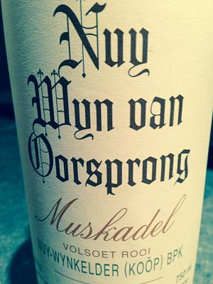 Nuy Red Muskadel fortified wine