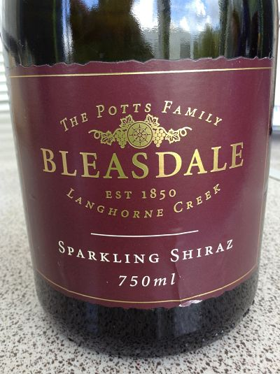 Bleasdale Langhorne Creek Sparkling Shiraz review
