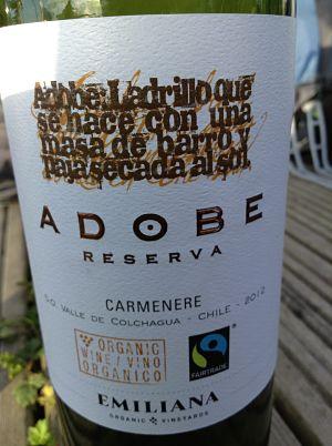 Adobe Reserva Carmenere wine review