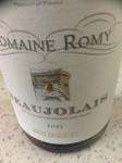 Beaujolais Domaine Romy 2013 review
