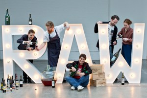 Isabelle Legeron, and the RAW wine fair team Credit Tom Moggach