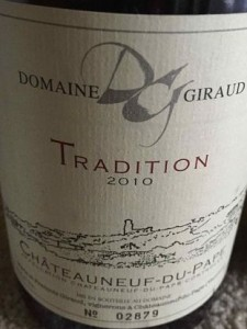 Domaine Giraud 2010 Châteauneuf-du-Pape Tradition