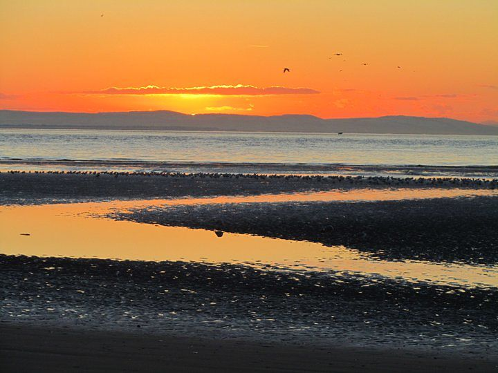 Crosby Beach sunset