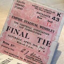 Burnley FC Wembley final ticket stub 1947