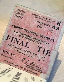 Burnley FC Wembley final ticket stub 1947