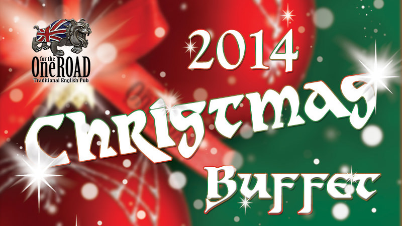 Christmas Day 2014 Buffet red-green banner