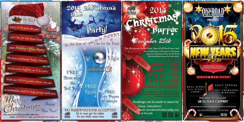 Christmas Season Events at One for the Road