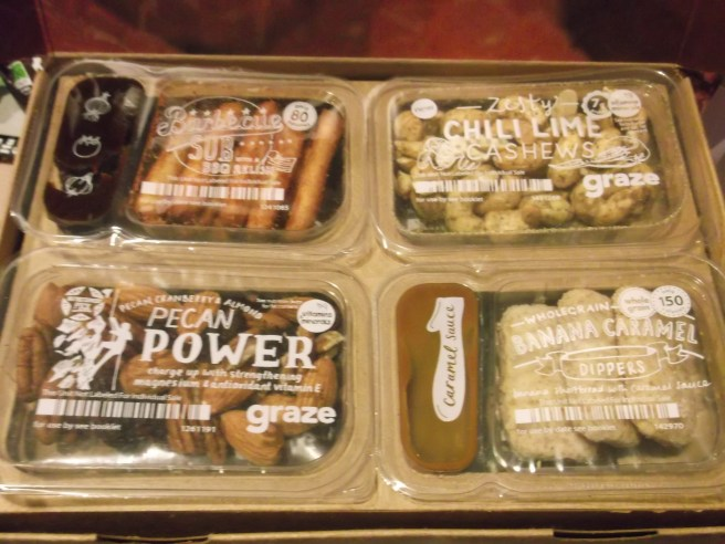 Top layer of an 8 item Graze box