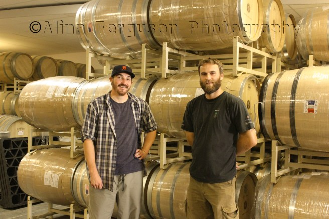 Basel Cellars winemaking team, l to r; Brian Biagi and Dirk Brink