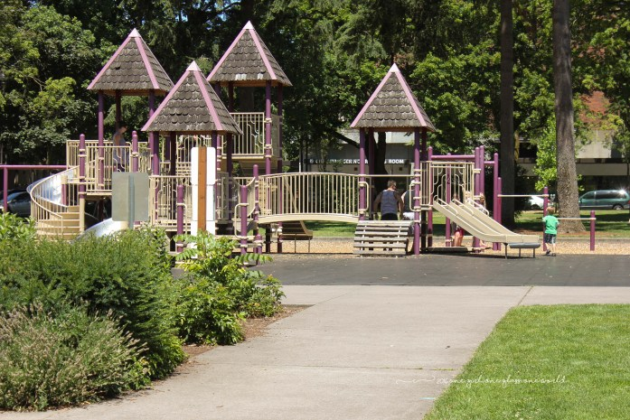 Play area at Esther Short Park