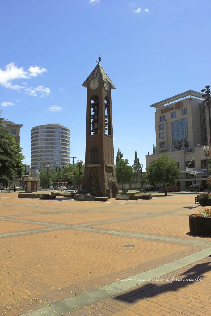Esther Short Park's Propstra Square and Glockenspiel Tower