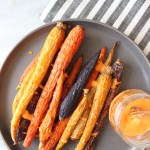 Roasted Carrots with Vegan Harissa Aioli