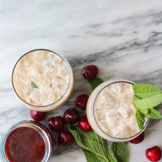 Iced Cherry Mint Latte