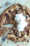 Maple cardamom apple galette