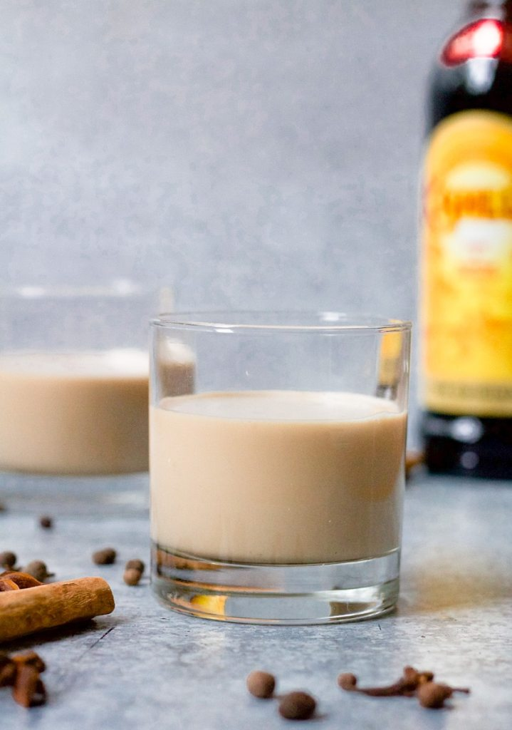 straight on shot of gingerbread white russian