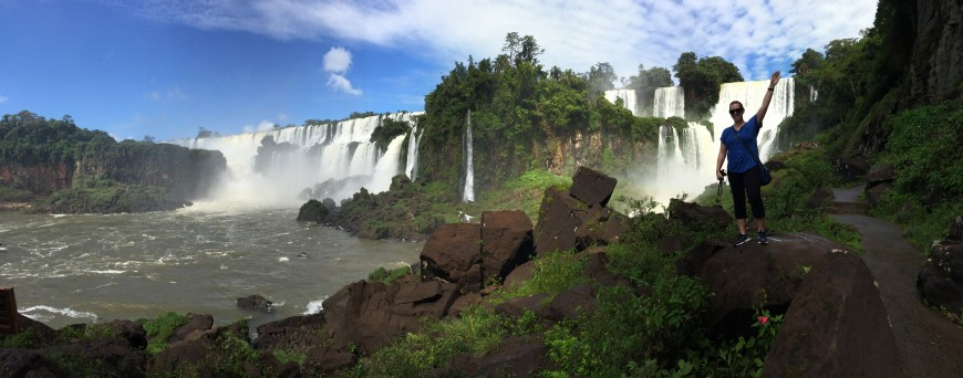 Walking down to the boat ride at Iguazu Falls...it can be hard to find!