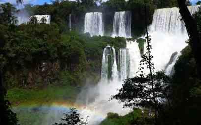 Iguazu falls and rainbows