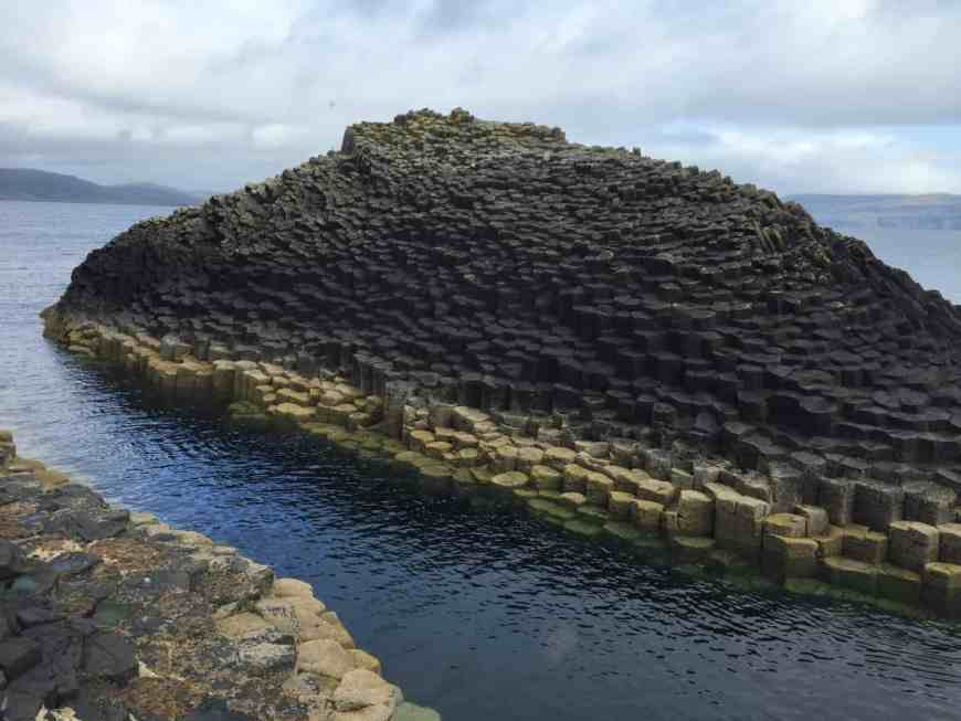A baby island of basalt rock columns off the Isle of Staffa. Staffa is a must-see for any trip in western Scotland.