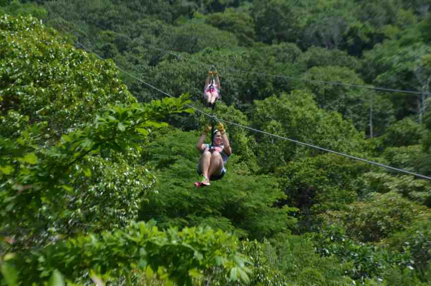Racing down the longest dual-line zipline in Costa Rica