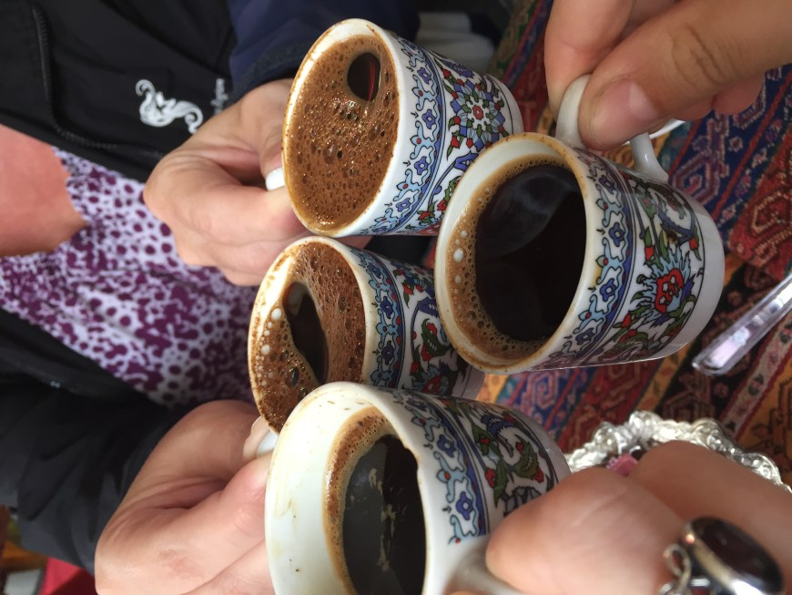 Ending our food tour with traditional Turkish coffee