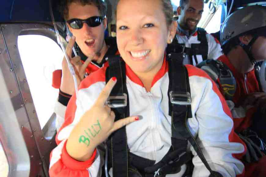 Pretending I'm cool. Skydiving makes me cool, right??