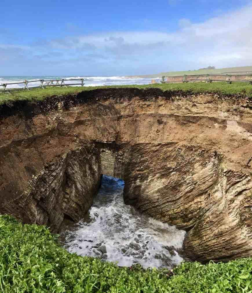 Sinkhole on the Point Buchon Trail, Montana de Oro State Park
