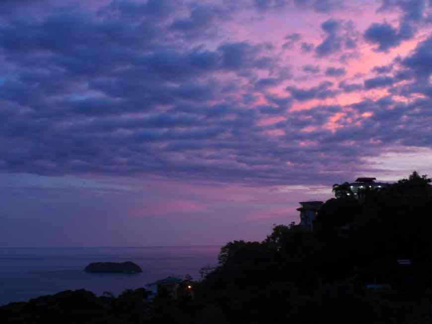 The sunset dinner view at Agua Azul is a must when staying in Manuel Antonio, Costa Rica