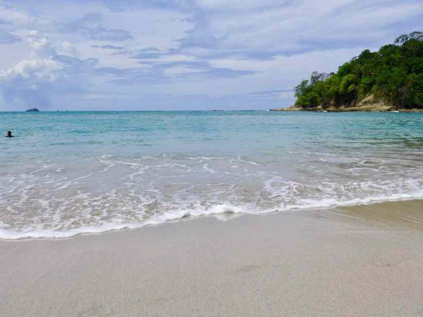 The beaches of Manuel Antonio National park are part of the draw--what you need to know for your trip, including where to stay & what to do!