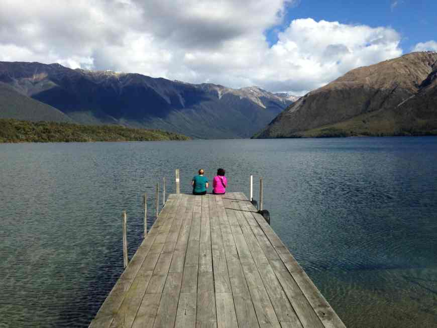 Lake Roitoiti and Mount Robert in Nelson Lakes National Park, New Zealand