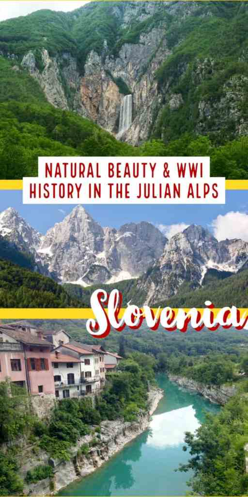 Make sure your Slovenia itinerary includes a drive through the Julian Alps, so often overlooked! The Julian Alps combine Slovenia's most amazing natural beauty with tons of WWI history, & are an easy day trip from Ljubljana or a great way to get between destinations. From the Vrsic Pass to the Soca River, this is a must on any Slovenia trip | What to do in Slovenia, trip planning tips for #Slovenia #traveltips #itinerary