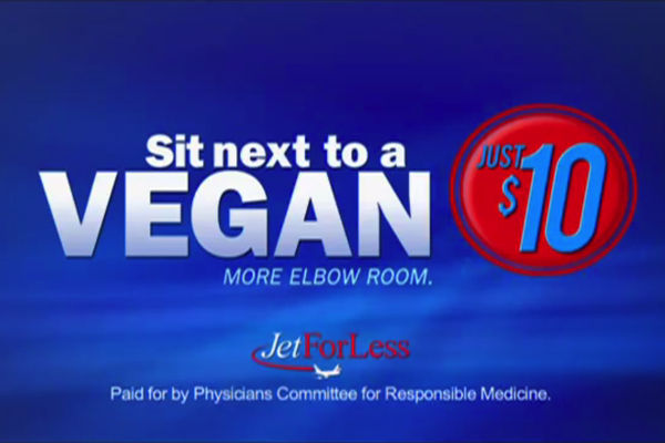 WATCH: Sit Next to a Vegan for More Elbow Room on Flights?