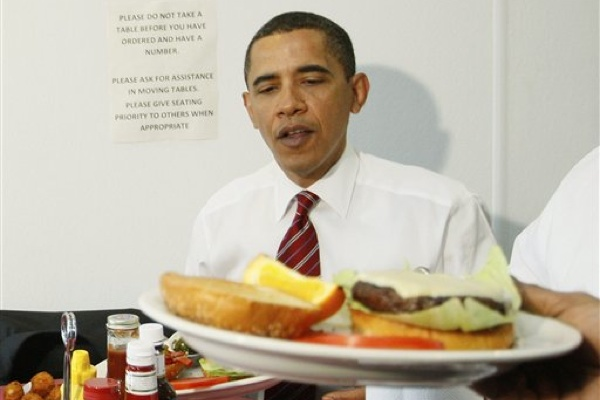 PCRM Wants President Obama to Avoid Photo Ops With Cheeseburgers, Hot Dogs