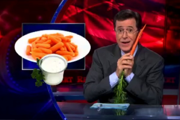 WATCH: Steven Colbert on Meatless Mondays and Cruel, Kale-Killing Vegans